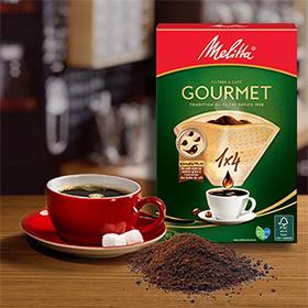 Echantillons Gratuits de filtres à café Melitta Gourmet
