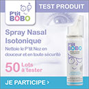 échantillon test de Spray Nasal