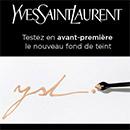 échantillon test de fond de teint Yves Saint Laurent