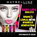échantillon test de baume Gemey-Maybelline