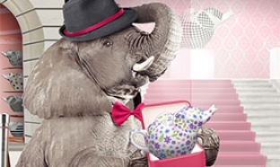 Théière Éléphant gratuite à gagner