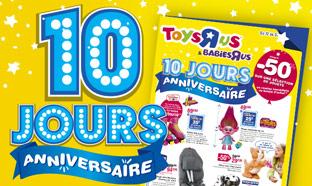 Anniversaire Toys'R'Us : Jusqu'à 50% de réduction sur les jouets