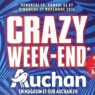 Catalogue Auchan Black Friday 2016 : Le Crazy Week-end