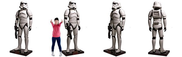 statues géantes Star Wars Stormtrooper