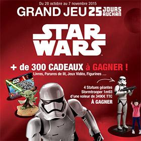 Jeu concours Star Wars pour les 25 jours Auchan