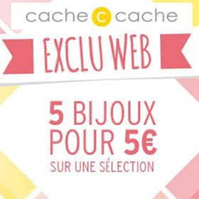 Bon plan Soldes Cache Cache : 5 Bijoux pas chers à 5€