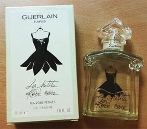 Le prix du parfum la petite robe noire