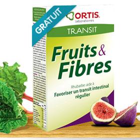 Echantillons gratuits du complément Fruits & Fibres par Ortis