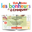 Magazine Club Kinder gratuit