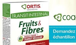 Echantillons gratuits du complément Fruits & Fibres d'Ortis
