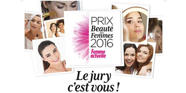 Prix de la Beauté Femme Actuelle : Coffrets de produits gratuits