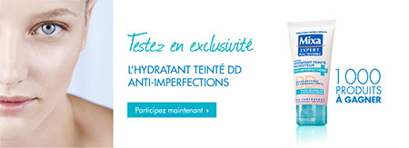 Hydratant Teinté DD Anti-imperfections Mixa à gagner