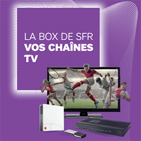 TV SFR Box : + de 230 chaînes optionnelles gratuites