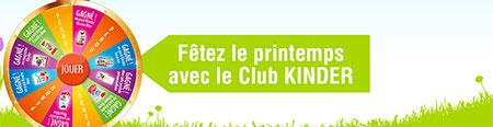Fêtez le printemps avec le concours du Club KINDER