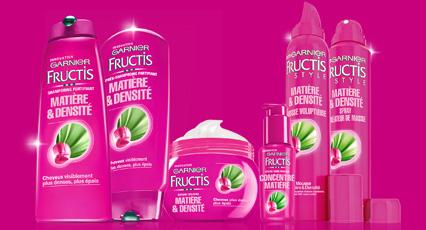 Soins Fructis Matière & Densité de Garnier