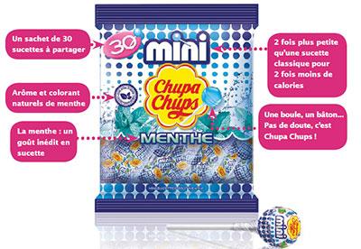 Sachets gratuits de sucettes Mini Chupa Chups Menthe