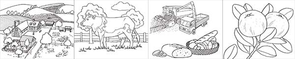 On the farm : les coloriages gratuits