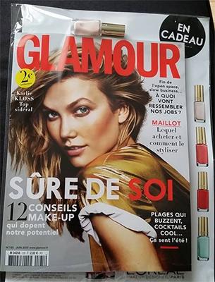 Vernis offert avec le magazine Glamour