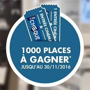 Jeu Optical Center : 1000 places de ciné gratuites à gagner