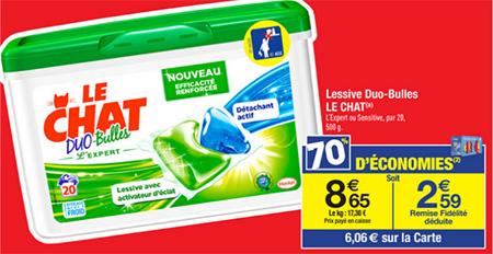 Promotion lessive Le Chat chez Carrefour