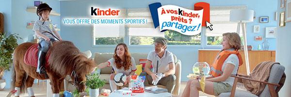 A-VOS.KINDER.FR : Activités sportives offertes ou kits sport