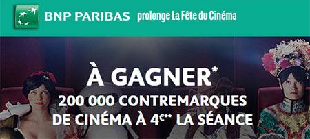 BNP Paribas prolonge la Fête du Cinéma