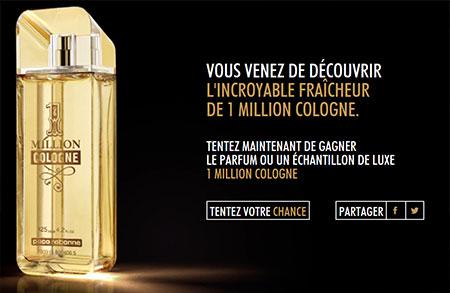 JEU CONCOURS 1 MILLION COLOGNE DE PACO RABANNE