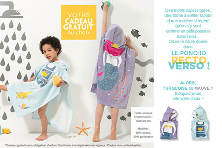 Cadeau Vertbaudet : cape de bain offerte