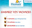 Jeu concours Homair vacances