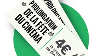 Fête du cinéma 2018 : 200'000 contremarques BNP à 4€