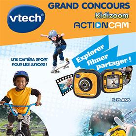 Jeu Gulli : 17 Kidizoom Action Cam de Vtech à gagner