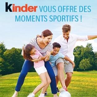 Bon plan Kinder : Activités sportives offertes ou kits sport