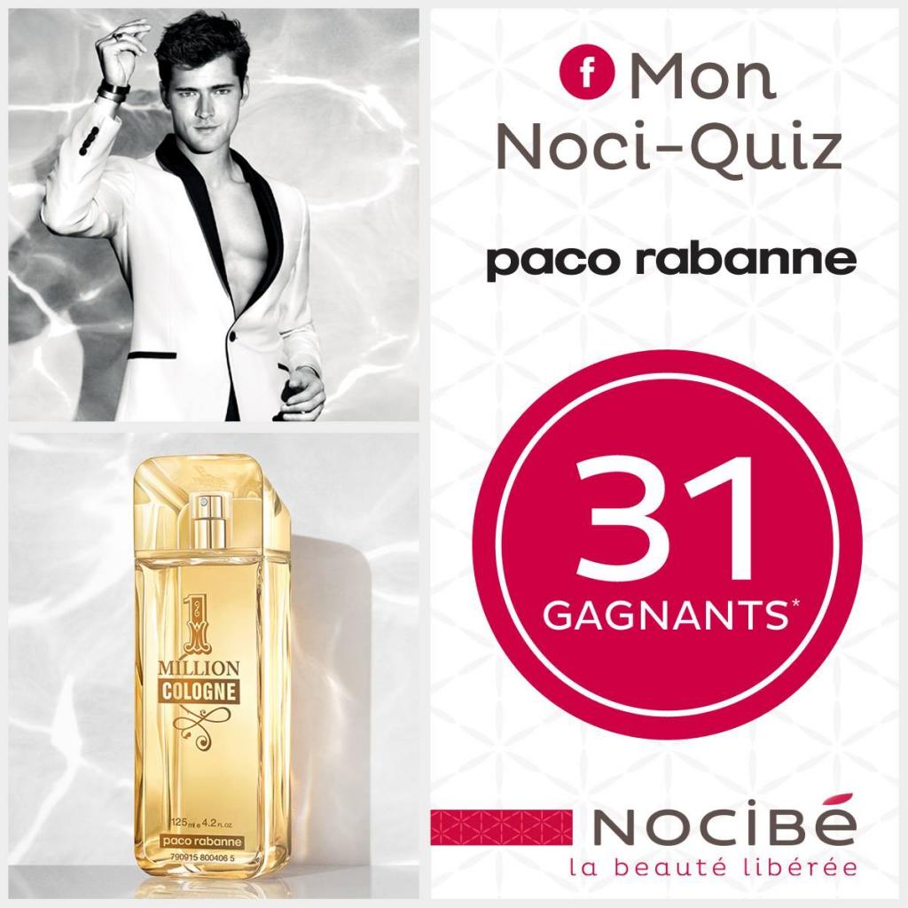 36 parfums 1 Million Cologne Paco Rabanne à gagner