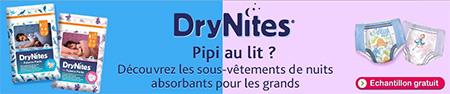 Bon plan gratuit DryNites