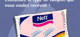 Echantillons gratuits de tampons Nett