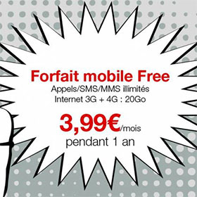 bon plan forfait free mobile 4g pas cher. Black Bedroom Furniture Sets. Home Design Ideas