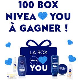 Concours Nivea : 100 box Nivea Loves You à gagner