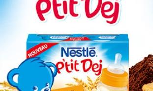 échantillon test de produits P'tit Dej de Nestlé bébé
