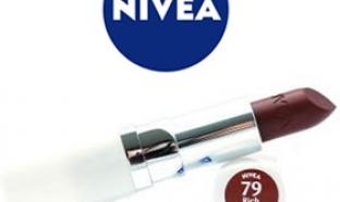 échantillon test de rouge à lèvres Nivea
