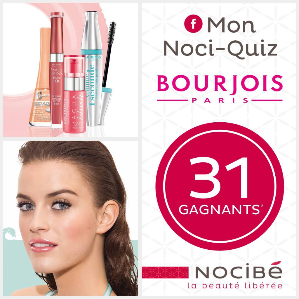 31 lots de maquillage Swimming Cool de Bourjois à gagner