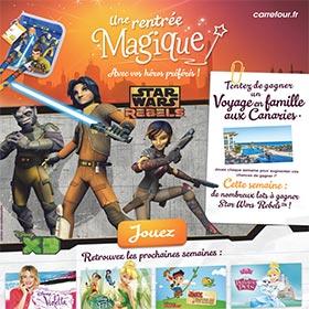 Carrefour : Fournitures scolaires Disney et Star Wars à gagner