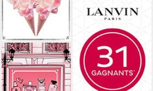 34 parfums Lanvin à gagner au jeu concours Nocibé