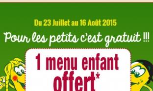 Réduction La Pataterie : 1 menu enfant offert