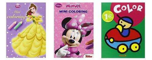 Livrets coloriages à 1€ sur Amazon