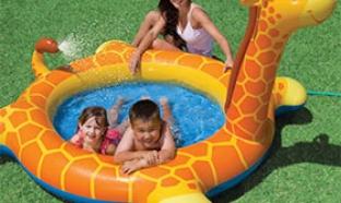 Soldes Mr.Bricolage : Bon plan piscine girafe pour enfant à 8.72€