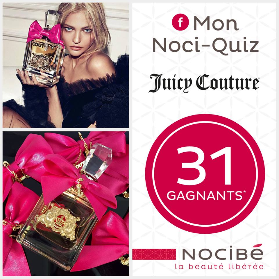 Jeu Nocibé : 32 parfums Juicy Couture et 1 porte-clé bijou à gagner