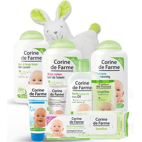 Corine de Farme : 9 produits bébé + doudou offert = 21.35€