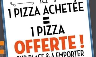 Réduction Tablapizza : 1 pizza achetée = 1 pizza offerte