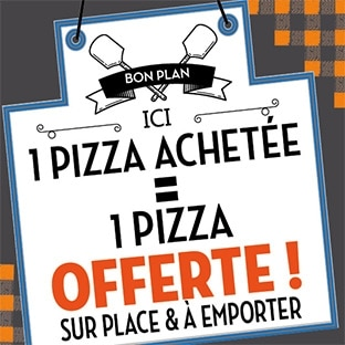 Réduction Tablapizza : 1 pizza achetée = 1 pizza offerte