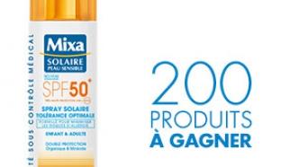 Spray Solaire SPF 50+ Mixa gratuit : 200 soins à gagner